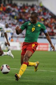 Eto's ready to dance circles against Japanese defenders.
